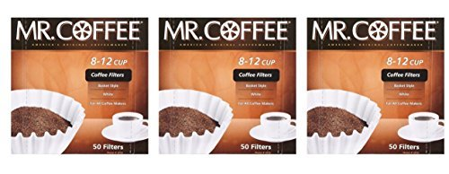 Mr. Coffee 8-12 cup Coffee Filters 50 pack ( 3 count – 150 total filters )