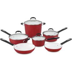 Cuisinart Ceramica 10-pc. Nonstick Ceramic Cookware Set, Red