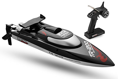 TR Remote Control RC Boat, Speed of 30 Mph, Auto Flip Recovery, 2.4 Ghz Transmitter, Professional Series