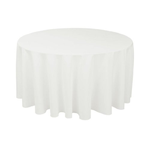 Craft and Party – 10 pcs Round Tablecloth for Home, Party, Wedding or Restaurant Use. (120″ Round White)