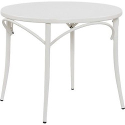 Ellie Bistro Round Table – White – Reservation Seating