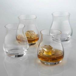 Wine Enthusiast 4-pc. Glencairn Whiskey Glass Set, White