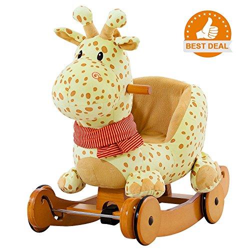 labebe child rocking horse plush stuffed animal rocker toy 2 in 1 yellow - Allshopathome-Best Price Comparison Website,Compare Prices & Save
