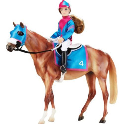 Breyer Traditional Series Let's Go Racing Model Horse & Doll, Multicolor