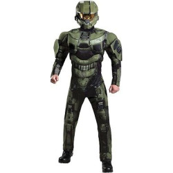 Halo 3 Deluxe Master Chief Adult Costume X-Large, Men's, Size: XL, Green