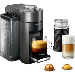 Nespresso Vertuo Coffee and Espresso Machine by De'Longhi with Aeroccino, Black