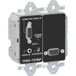 FSR TPRO-TXWPD-BLK 2-Gang Wall Plate Transmitter (Black) TPRO-TXWPD-BLK