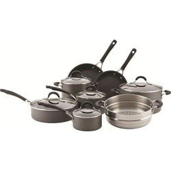 Circulon Innovatum Hard Anodized Nonstick 13 piece Cookware Set, Gray