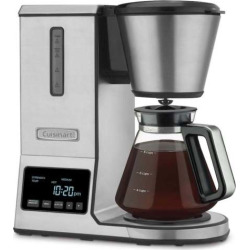 Cuisinart PurePrecision Pour-Over Coffee Brewer with Glass Carafe, White