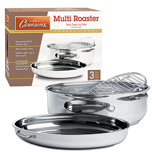 stainless steel professional grade multi roaster four cookware products in - Allshopathome-Best Price Comparison Website,Compare Prices & Save