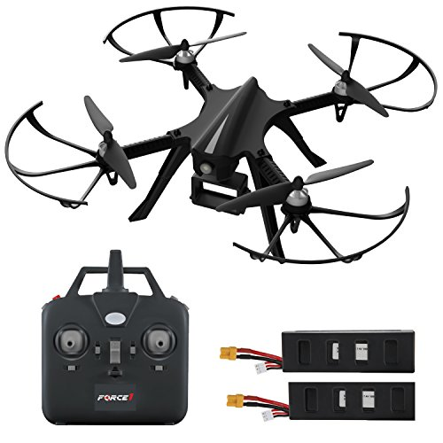 "GoPro Compatible HD Camera Drone – ""Force1 F100"" Brushless Motor Drone for Beginners and Pros Extends Drones Flight Time (Camera Not Included)"