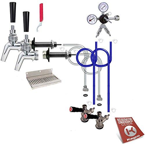 Kegco EB2PSCK-NT 2 Faucet Premium Door Mount Kegerator Kit Without Tank
