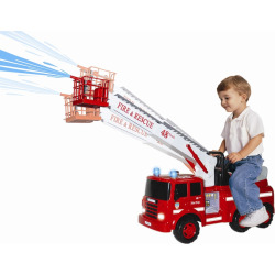 Ride-On Action Fire Engine, Multicolor