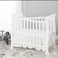 Dream On Me Violet 4-in-1 Convertible Mini Crib, White