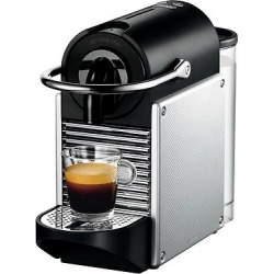 Nespresso Pixie Espresso Machine by De'Longhi – Aluminum, Light Silver
