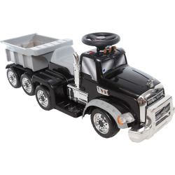 Wonderlanes 6V Mack Truck with Trailer Ride-on Vehicle, Multicolor