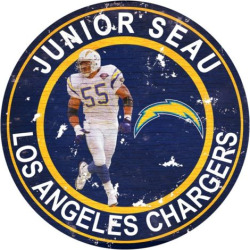 Los Angeles Chargers Junior Seau Wall Decor, Multicolor