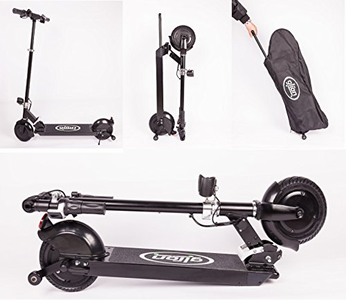 Glion Dolly Foldable Lightweight Adult Electric Scooter with Li-Ion Battery, Black