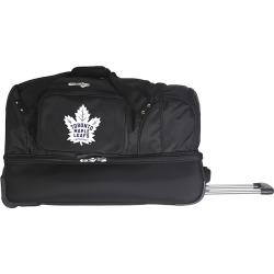 Toronto Maple Leafs 27-Inch Rolling Duffel Bag, Black