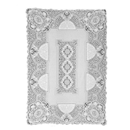 Heritage Lace Canterbury Classic 70-Inch by 126-Inch Rectangle Tablecloth, Ecru