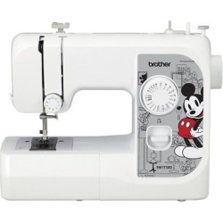Brother SM1738D 17-Stitch Sewing Machine with 3 Disney Faceplates, White