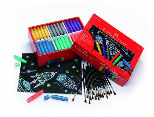 Faber Castell Metallic Gel Sticks School Pack – Premium Art Supplies For Kids (120 Count)