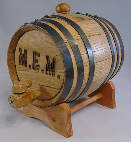 Custom Engraved 20 Liter Oak Barrels for Aging Whiskey, Rum, Tequila, Bourbon, Scotch and Wine (20 Liter)