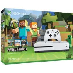 Microsoft Xbox One S 500GB Console: White – Minecraft Bundle