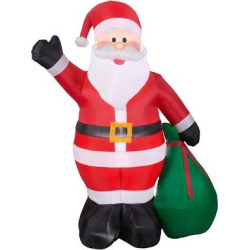 6.5ft Inflatable Santa With Gifts – Wondershop, Multi-Colored