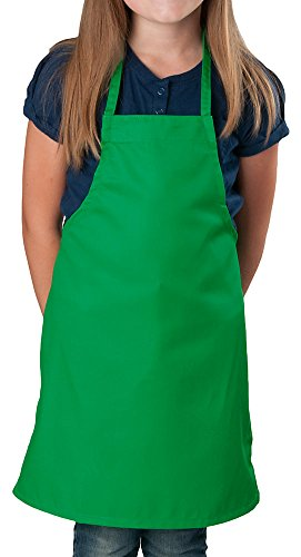 Kelly Green Kids Apron, Small Bib, 84 Pack