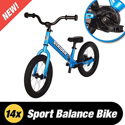 Strider – 14X 2-in-1 Balance to Pedal Bike, Awesome Blue