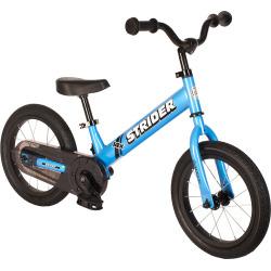 Strider 14x Sport 14-Inch Balance Bike & Easy-Ride Pedal Kit, Blue