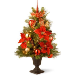 National Tree Company 3 ft. Artificial Home For the Holidays Entrance Christmas Tree, Multicolor