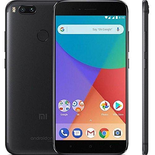 Xiaomi MI A1 (64GB, 4GB RAM) with Android One & Dual Cameras, 5.5″ Dual SIM Unlocked, Global GSM Version, No Warranty (Black)