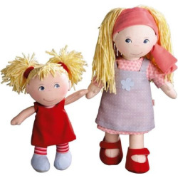 Haba Sisters 12-in. Lennja & 8-in. Elin Dolls, Multicolor