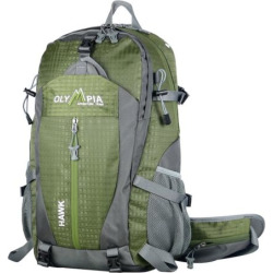 Olympia Hawk 20-in. Outdoor Backpack & Hideaway Rain Cover, Green