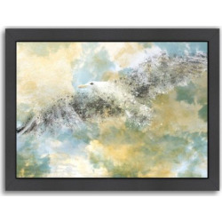 Americanflat Digital Art Vanishing Seagull Framed Wall Art, Multicolor