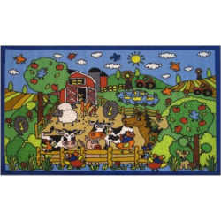 Fun Rugs Fun Time Happy Farm Rug – 3'3 x 4'10, Multicolor