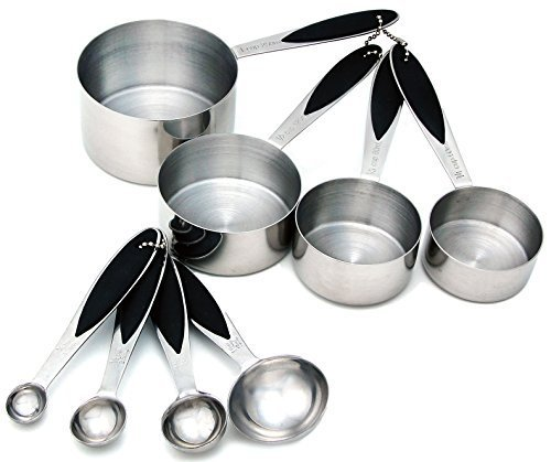 Spring Chef 8-Piece Premium Stainless Steel Measuring Cups and Spoons Set