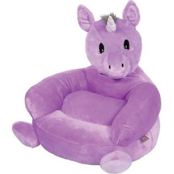 Kids Plush Unicorn Character Chair – Purple – Trend Lab
