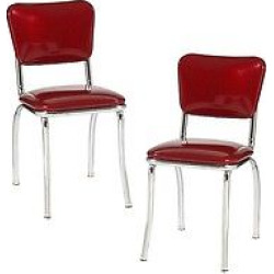 Diner Chair – Set of 2 (Red)