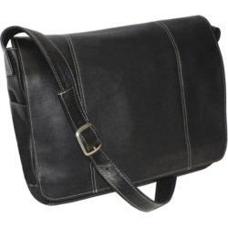 Royce Leather Vaquetta 13-in. Laptop Messenger Bag, Black