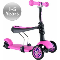 Yvolution Y Glider 3-in-1 Scooter, Pink