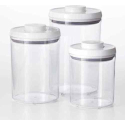 OXO Good Grips 3-pc. POP Kitchen Canister Set, White