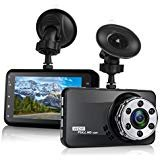 Dash Cam, Mokcoo 1080P Full HD 3.0″ LCD Car Camera Video Recorder 170° Wide Angle Dashboard DVR Camcorder Built-in G-Sensor WDR Night Vision Loop Recording & Motion Detection