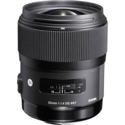 Sigma 35mm f/1.4 DG HSM Art Lens for Nikon DSLR Cameras 340306