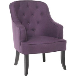 Sophia Upholstered Chair – Plum (Purple) – Christopher Knight Home