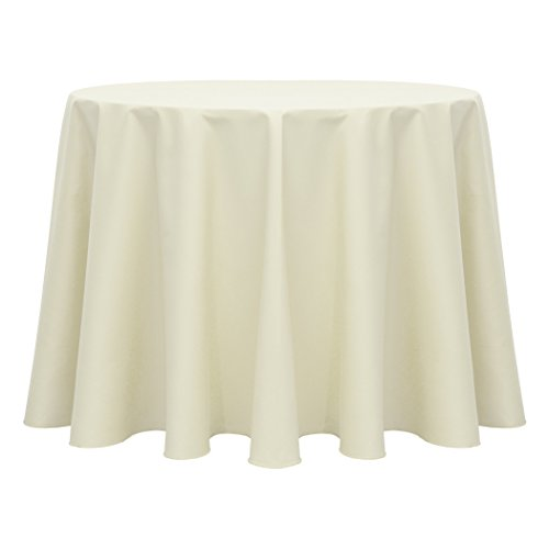 Ultimate Textile (10 Pack) Poly-cotton Twill 60-Inch Round Tablecloth – for Restaurant and Catering, Hotel or Home Dining use, Ivory Cream