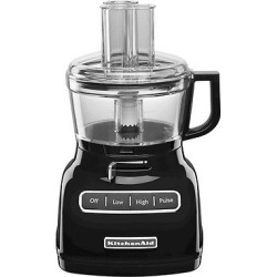 KitchenAid 7 Cup Food Processor with ExactSlice System – KFP0722, Black