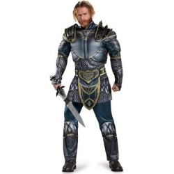 Warcraft Lothar Men's Classic Muscle Adult Costume X-Large, Size: XL, Multi-Colored
